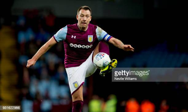 John Terry of Aston Villa during the Sky Bet Championship match between Aston Villa and Queens Park Rangers at Villa Park on March 13 2018 in...