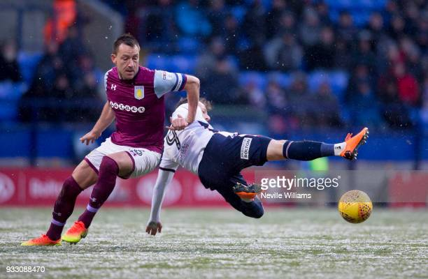 John Terry of Aston Villa during the Sky Bet Championship match between Bolton Wanderers and Aston Villa at the Macron Stadium on March 17 2018 in...