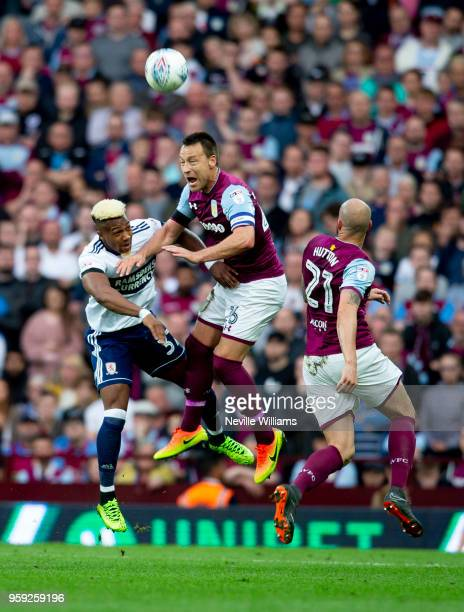 John Terry of Aston Villa during the Sky Bet Championship Play Off Semi Final Second Leg match between Aston Villa and Middlesbrough at Villa Park on...