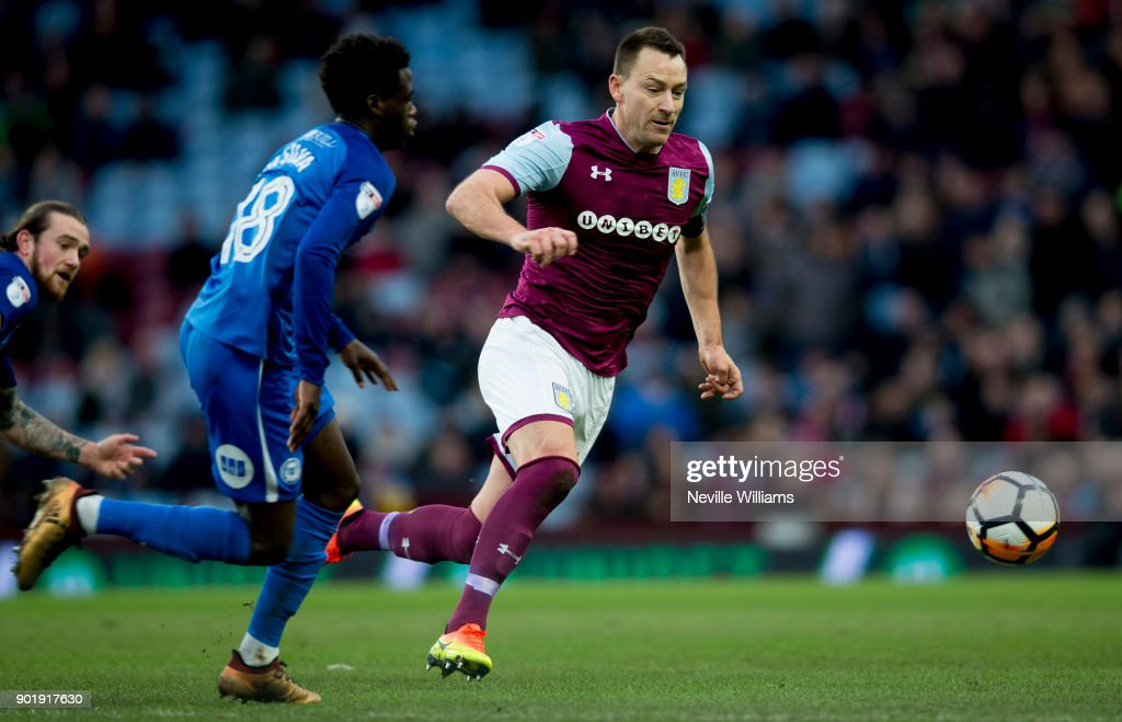 John Terry of Aston Villa during the The Emirates FA Cup Third Round match between Aston Villa and Peterborough United at Villa Park on January 06, 2018 in Birmingham, England.