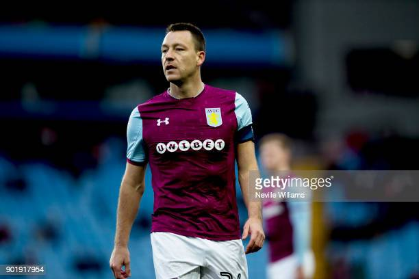 John Terry of Aston Villa during the The Emirates FA Cup Third Round match between Aston Villa and Peterborough United at Villa Park on January 06,...