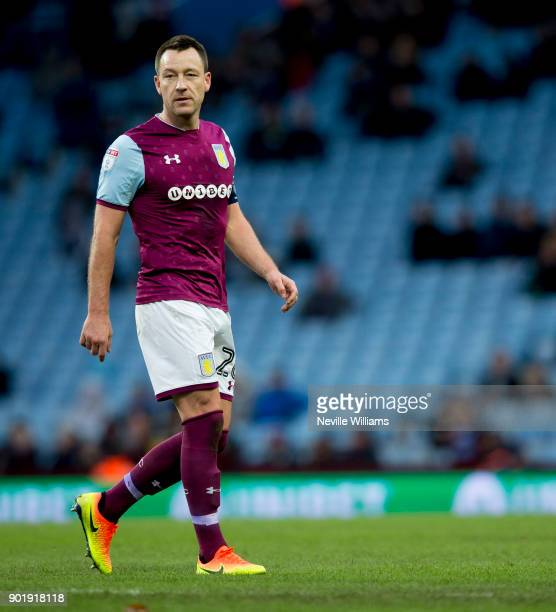John Terry of Aston Villa during the The Emirates FA Cup Third Round match between Aston Villa and Peterborough United at Villa Park on January 06...