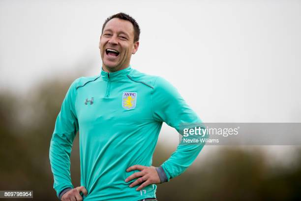 John Terry of Aston Villa in action during a training session at the club's training ground at Bodymoor Heath on November 03 2017 in Birmingham...