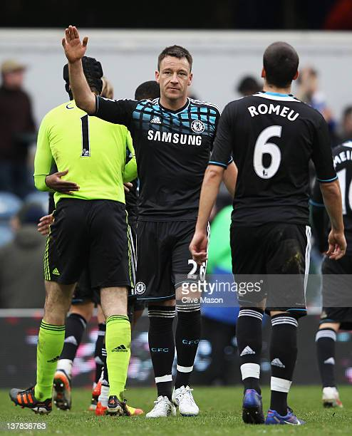 John Terry of Chelsea acknowledges the fans after the FA Cup with Budweiser Fourth Round match between Queens Park Rangers and Chelsea at Loftus Road...