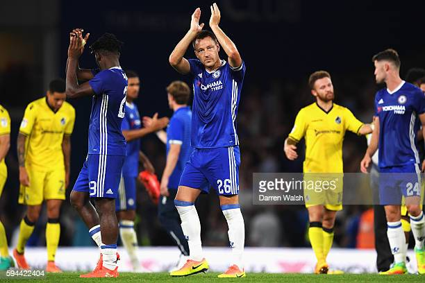 John Terry of Chelsea applauds the fans after the EFL Cup second round match between Chelsea and Bristol Rovers at Stamford Bridge on August 23 2016...