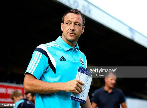 John Terry of Chelsea arrives at the ground prior to the pre season friendly match between Wycombe Wanderers and Chelsea at Adams Park on July 16...