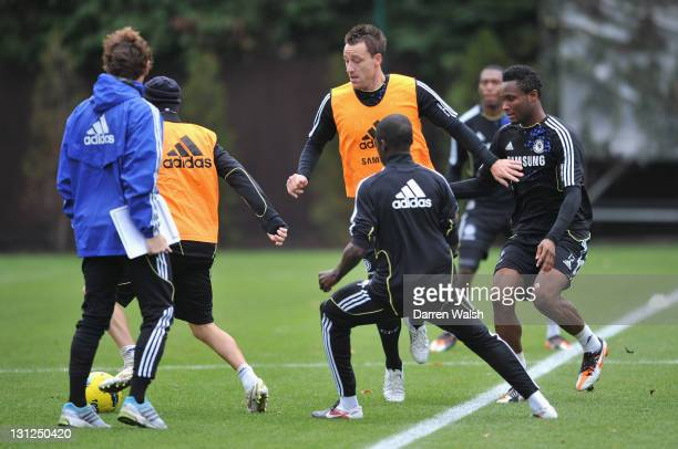 John Terry of Chelsea during a training session at the Cobham training ground on November 3, 2011 in Cobham, England.