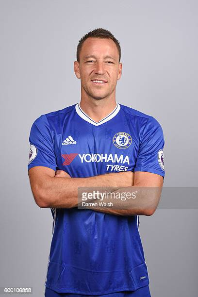 John Terry of Chelsea during the Official Portrait session at Chelsea Training Ground on August 11 2016 in Cobham England