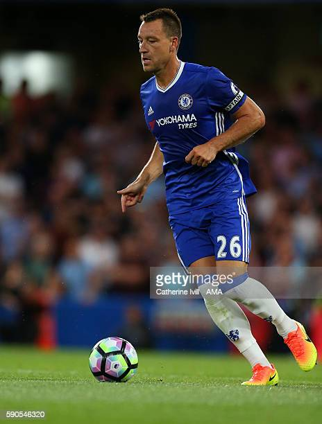 John Terry of Chelsea during the Premier League match between Chelsea and West Ham United at Stamford Bridge on August 15 2016 in London England
