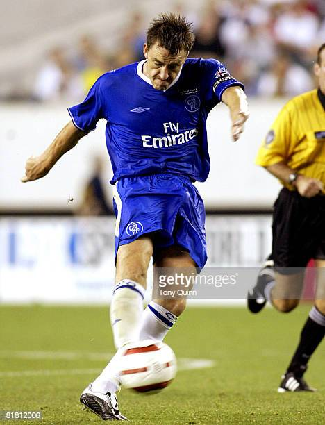 John Terry of Chelsea gets off a shot during Champions World Series game between AC Milan and Chelsea at Lincoln Financial Field, Philadelphia,...