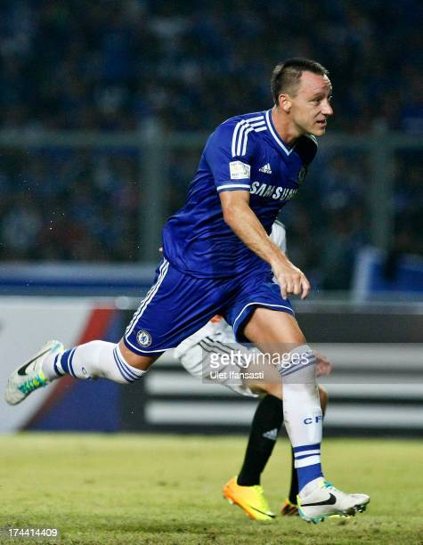 John Terry of Chelsea in action after scoring a goal during the match between Chelsea and Indonesia AllStars at Gelora Bung Karno Stadium on July 25...