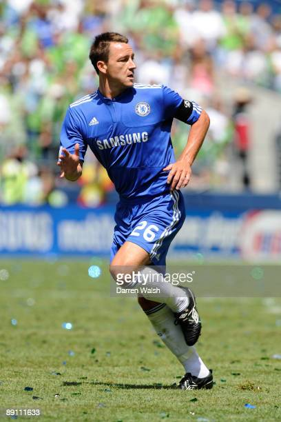 John Terry of Chelsea in action during a pre season friendly between Seattle Sounders and Chelsea at Qwest Field on July 18, 2009 in Seattle,...