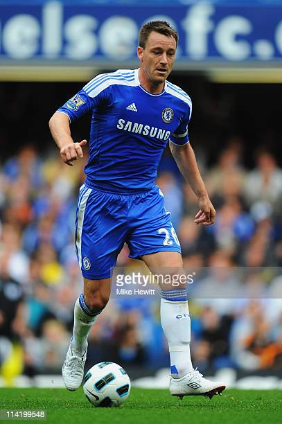 John Terry of Chelsea in action during the Barclays Premier League match between Chelsea and Newcastle United at Stamford Bridge on May 15 2011 in...