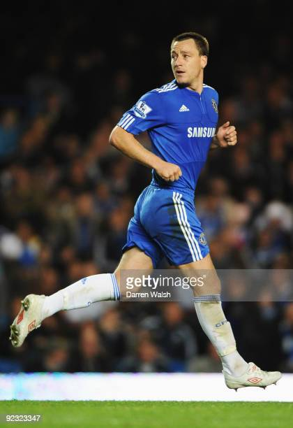 John Terry of Chelsea in action during the Barclays Premier League match between Chelsea and Blackburn Rovers at Stamford Bridge on October 24 2009...