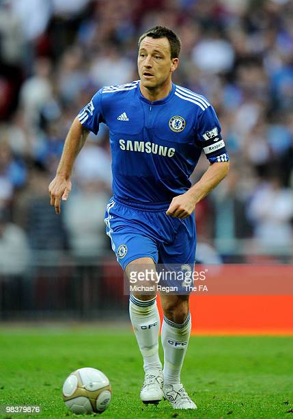John Terry of Chelsea in action during the FA Cup sponsored by E.ON Semi Final match between Aston Villa and Chelsea at Wembley Stadium on April 10,...