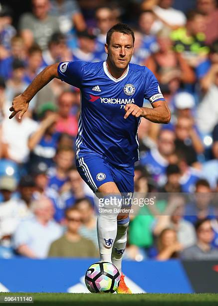 John Terry of Chelsea in action during the Premier League match between Chelsea and Burnley at Stamford Bridge on August 27 2016 in London England