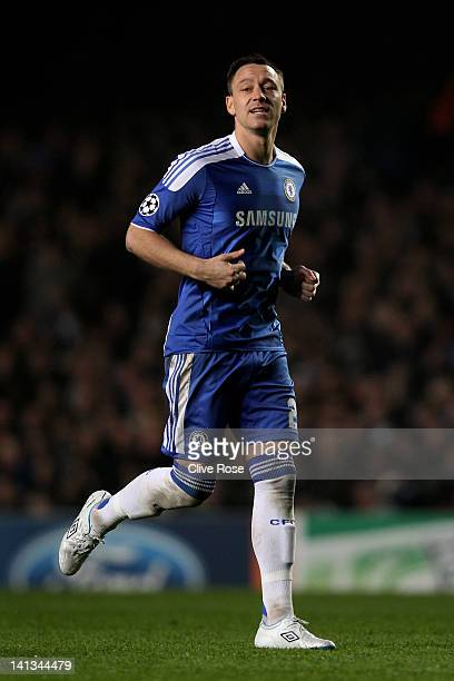 John Terry of Chelsea in action during the UEFA Champions League round of 16 second leg match between Chelsea FC and SSC Napoli Stamford Bridge on...