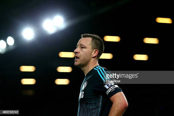 John Terry of Chelsea looks on during the Barclays Premier League match between West Ham and Chelsea at the Boleyn Ground on March 4 2015 in London...