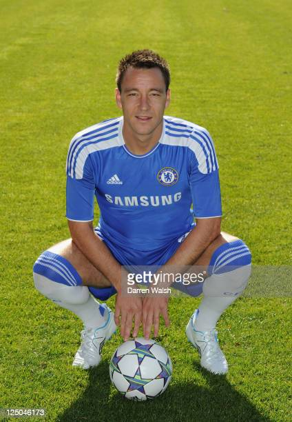 John Terry of Chelsea poses during a photo call at the Cobham Training Ground on September 15, 2011 in Cobham, England.