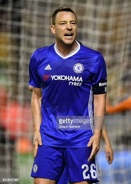 John Terry of Chelsea reacts during The Emirates FA Cup Fifth Round match between Wolverhampton Wanderers and Chelsea at Molineux on February 18 2017...