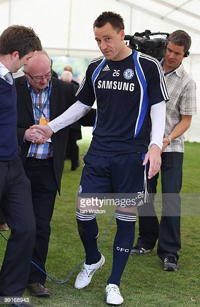 John Terry of Chelsea walks off after a training session at the Cobham training ground on May 13 2010 in Cobham England
