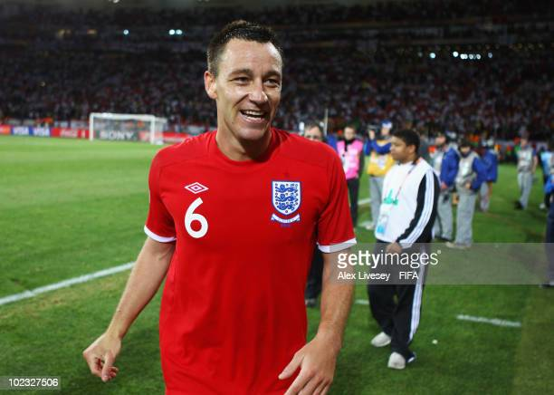 John Terry of England celebrates after the 2010 FIFA World Cup South Africa Group C match between Slovenia and England at the Nelson Mandela Bay...