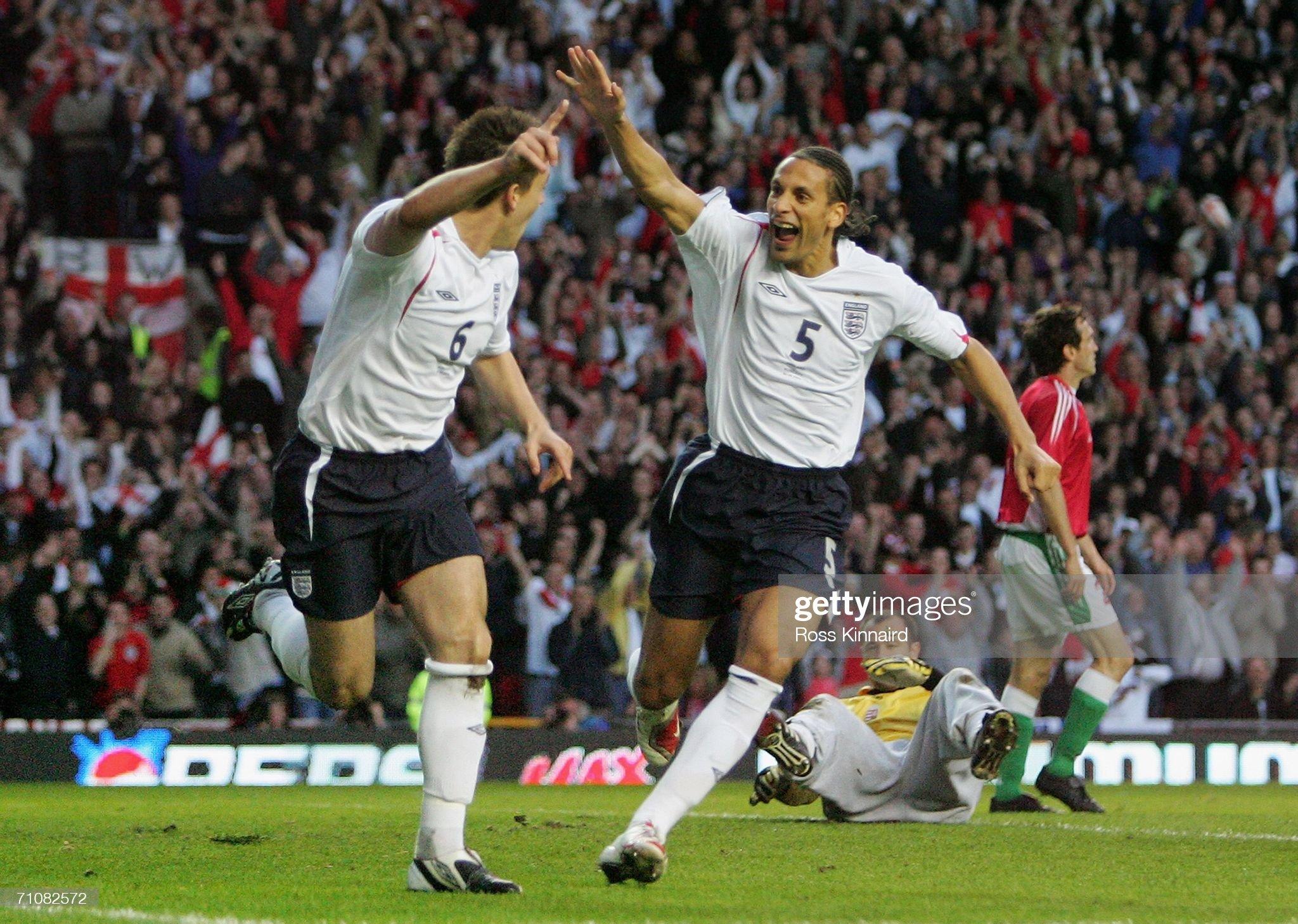 England v Hungary : News Photo