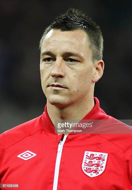 John Terry of England looks on prior to the International Friendly match between England and Egypt at Wembley Stadium on March 3 2010 in London...