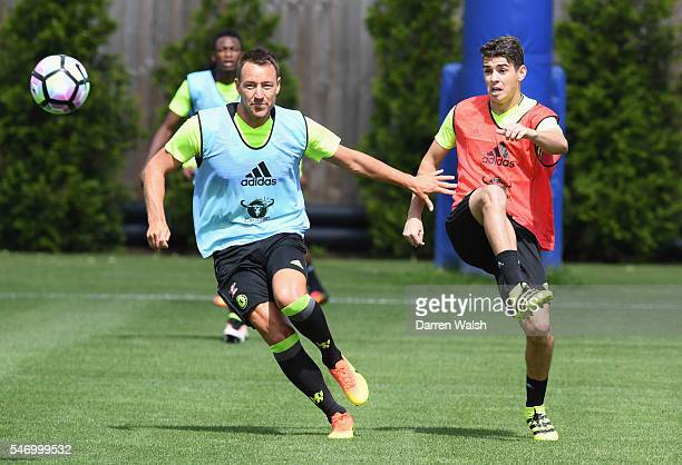 John Terry Oscar at Chelsea Training Ground on July 13 2016 in Cobham England