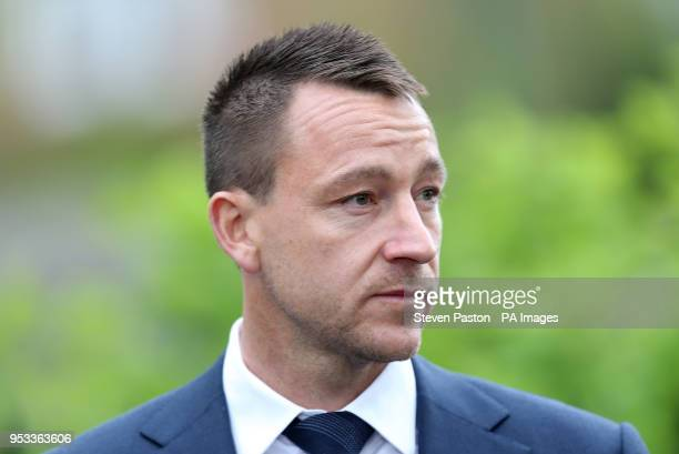 John Terry outside St Luke's and Christ Church London where the memorial service for former Chelsea player Ray Wilkins is being held Wilkins who...