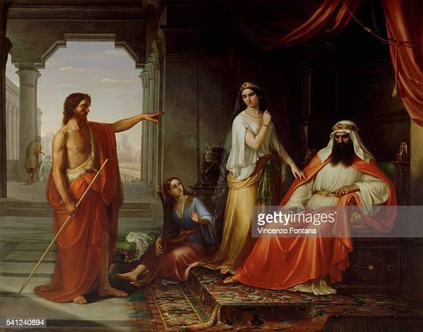 John the Baptist Rebukes Herod by Giuseppe Fattori