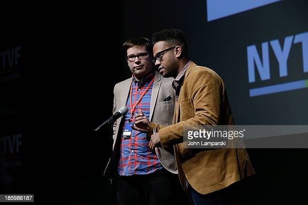 John Thibodeaux and Kevin Walsh accept CW Seed Startup Award at the 9th Annual New York Television Festival Awards Ceremony at SVA Theater on October...