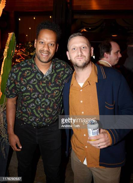 John Thibodeaux and Tim Robinson attend Comedy Central's Emmy Party at Dream Hotel on September 21 2019 in Hollywood California