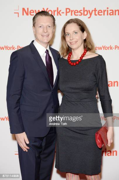 John Thiessen and Marisa Castagno attend NewYorkPresbyterian Hospital's Amazing Kids Amazing Care dinner at Cipriani 25 Broadway on November 16 2017...