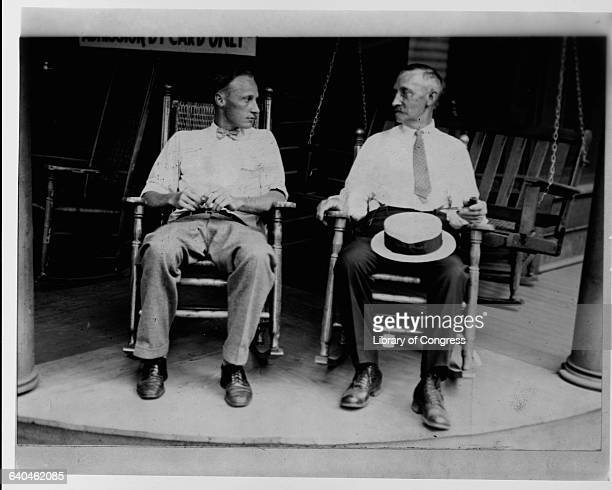 John Thomas Scopes relaxes with his father Thomas John Scopes is known as the Tennessee teacher who went against state law and taught the theory of...