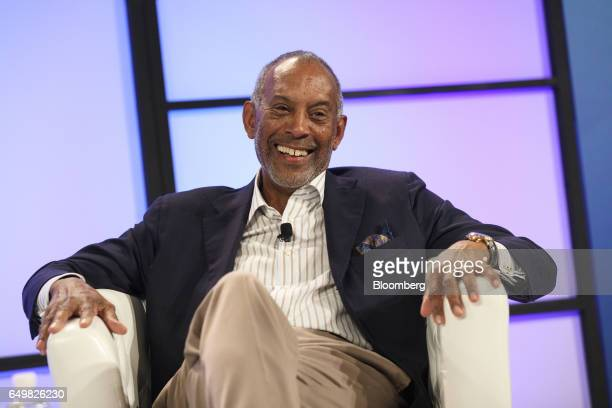 John Thompson chief executive officer of Virtual Instruments Corp and chairman of Microsoft Corp smiles during the Montgomery Summit in Santa Monica...