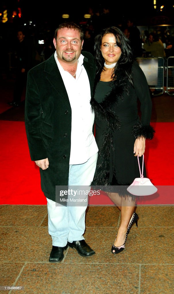 John Thompson with his girlfriend Jane Fallom during 'The League Of Extraordinary Gentlemen' Uk Premiere at The Odeon Leicester Square in London, United Kingdom.