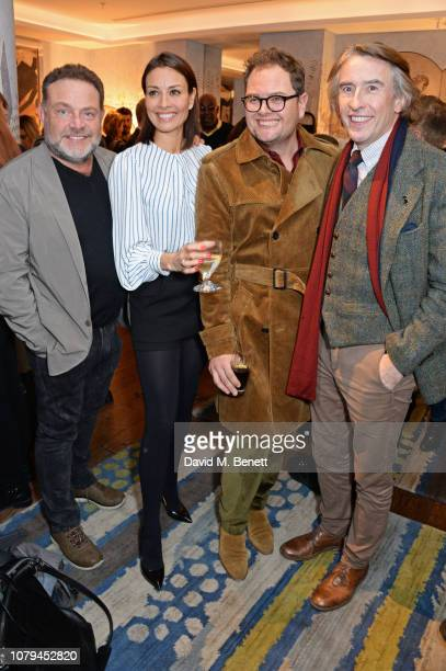 John Thomson Melanie Sykes Alan Carr and Steve Coogan attend a special screening of Stan Ollie at The Soho Hotel on January 8 2019 in London England