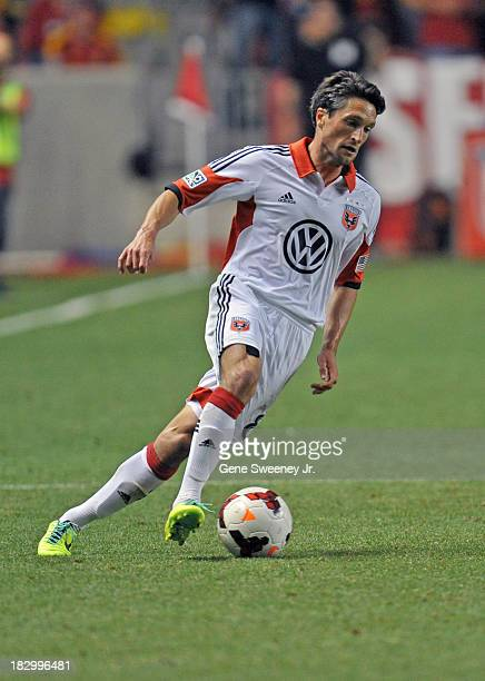 John Thorrington of DC United guides the ball downfield against Real Salt Lake during the 2013 US Open Cup Final at Rio Tinto Stadium October 1 2013...
