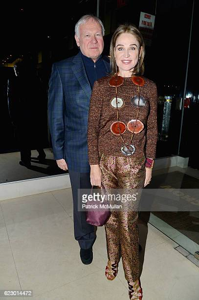 John Thrash and Becca Cason Thrash attend The Warhol Dinner @ MR CHOW at Mr Chow in Tribeca on November 12 2016 in New York City