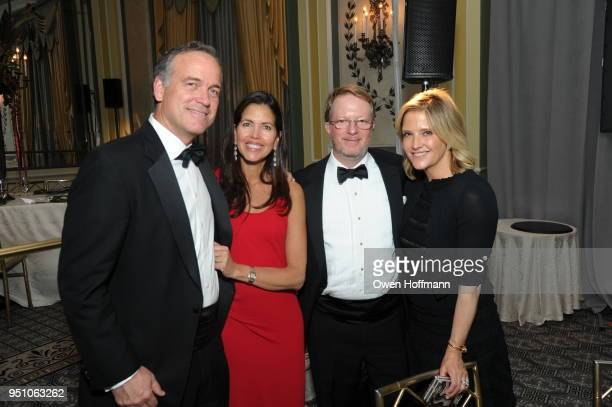 John Tonelli Isabel Tonelli Chris Allen and Kate Allen attends The Hort's New York Flower Show Dinner Dance at The Pierre Hotel on April 24 2018 in...