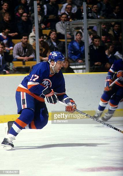 John Tonelli of the New York Islanders skates on the ice during an NHL game circa 1979
