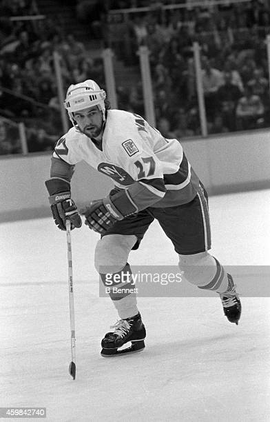 John Tonelli of the New York Islanders skates on the ice during an NHL game against the Edmonton Oilers on March 4 1980 at the Nassau Coliseum in...