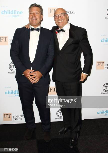 John Torode and Gregg Wallace attend The Childline Ball 2019 partnered with MasterChef for this year's theme at Old Billingsgate in London.