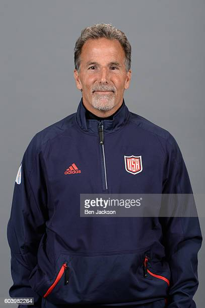 John Tortorella Head Coach of Team USA poses for his official World Cup of Hockey head shot at Nationwide Arena on September 5 2016 in Columbus Ohio