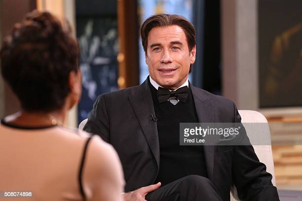 AMERICA John Travolta and Courtney Vance are guests on 'Good Morning America' 2/2/16 airing on the ABC Television Network ROBIN
