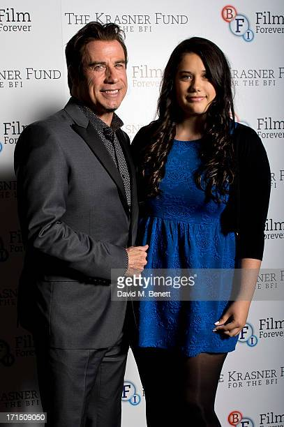 John Travolta and Ella Travolta attend as Actor John Travolta is honoured by the BFI as part of The Krasner Fund for the BFI programme at BFI...