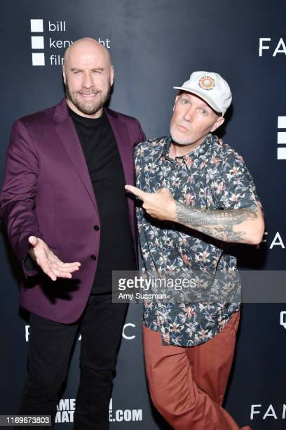 """John Travolta and Fred Durst attend the premiere of Quiver Distribution's """"The Fanatic"""" at the Egyptian Theatre on August 22, 2019 in Hollywood,..."""