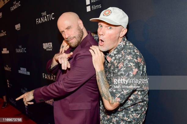 """John Travolta and Fred Durst attends the premiere of Quiver Distribution's """"The Fanatic"""" at the Egyptian Theatre on August 22, 2019 in Hollywood,..."""