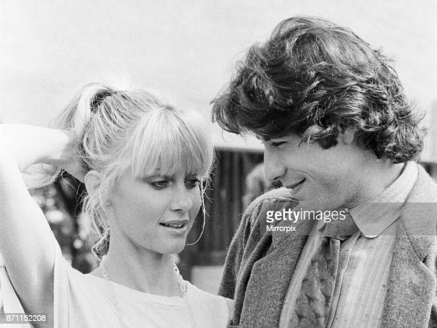 John Travolta and his co star Olivia Newton John in England during the week of release of the film Grease, 10th September 1978.